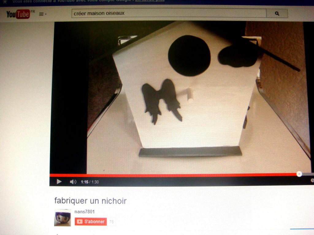 C'est cadeau, une vidéo pour vous aider à réaliser cette maison des oiseaux